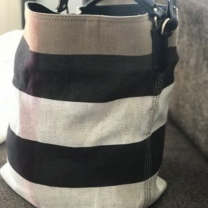 Burberry Bags - Medium Susanna Jute Cotton Mega Check Bucket Bag 00eec3d53eb7a